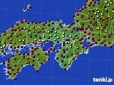 2020年04月28日の近畿地方のアメダス(日照時間)