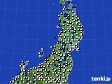 2020年04月28日の東北地方のアメダス(風向・風速)