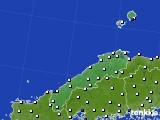 島根県のアメダス実況(風向・風速)(2020年04月28日)