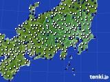 関東・甲信地方のアメダス実況(風向・風速)(2020年04月29日)