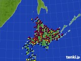 北海道地方のアメダス実況(日照時間)(2020年04月30日)