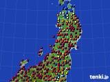東北地方のアメダス実況(日照時間)(2020年04月30日)