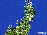 東北地方のアメダス実況(気温)(2020年04月30日)