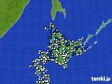 北海道地方のアメダス実況(風向・風速)(2020年04月30日)