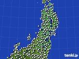2020年04月30日の東北地方のアメダス(風向・風速)