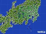 関東・甲信地方のアメダス実況(風向・風速)(2020年04月30日)