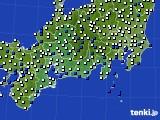 東海地方のアメダス実況(風向・風速)(2020年04月30日)