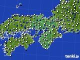 近畿地方のアメダス実況(風向・風速)(2020年04月30日)