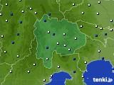 山梨県のアメダス実況(風向・風速)(2020年04月30日)