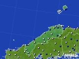 島根県のアメダス実況(風向・風速)(2020年04月30日)