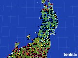 東北地方のアメダス実況(日照時間)(2020年05月01日)