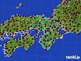 2020年05月01日の近畿地方のアメダス(日照時間)