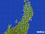 東北地方のアメダス実況(気温)(2020年05月01日)