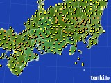 2020年05月01日の東海地方のアメダス(気温)