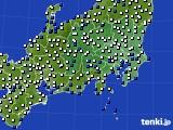 関東・甲信地方のアメダス実況(風向・風速)(2020年05月01日)