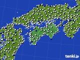 四国地方のアメダス実況(風向・風速)(2020年05月01日)