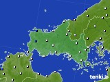 山口県のアメダス実況(風向・風速)(2020年05月01日)