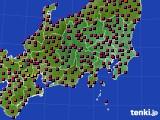 関東・甲信地方のアメダス実況(日照時間)(2020年05月02日)