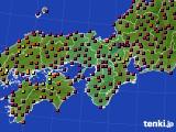 2020年05月02日の近畿地方のアメダス(日照時間)