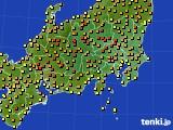 関東・甲信地方のアメダス実況(気温)(2020年05月02日)