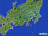 関東・甲信地方のアメダス実況(風向・風速)(2020年05月02日)