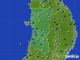 2020年05月02日の秋田県のアメダス(風向・風速)