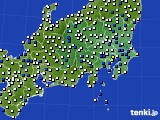 関東・甲信地方のアメダス実況(風向・風速)(2020年05月03日)