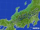 北陸地方のアメダス実況(降水量)(2020年05月06日)