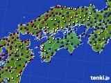 四国地方のアメダス実況(日照時間)(2020年05月06日)