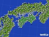 四国地方のアメダス実況(風向・風速)(2020年05月06日)