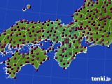 2020年05月07日の近畿地方のアメダス(日照時間)