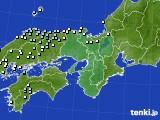 近畿地方のアメダス実況(降水量)(2020年05月09日)