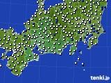 東海地方のアメダス実況(風向・風速)(2020年05月09日)