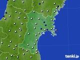 2020年05月10日の宮城県のアメダス(風向・風速)