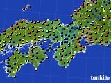 2020年05月12日の近畿地方のアメダス(日照時間)