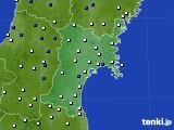 2020年05月12日の宮城県のアメダス(風向・風速)