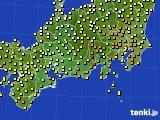 2020年05月13日の東海地方のアメダス(気温)