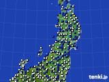 2020年05月13日の東北地方のアメダス(風向・風速)