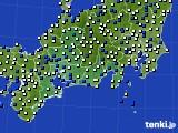 東海地方のアメダス実況(風向・風速)(2020年05月13日)