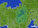 滋賀県のアメダス実況(風向・風速)(2020年05月13日)