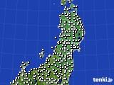 2020年05月15日の東北地方のアメダス(風向・風速)