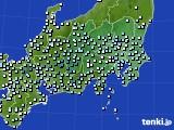関東・甲信地方のアメダス実況(降水量)(2020年05月16日)