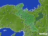 京都府のアメダス実況(降水量)(2020年05月16日)