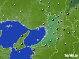大阪府のアメダス実況(降水量)(2020年05月16日)