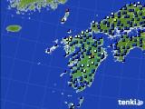 九州地方のアメダス実況(日照時間)(2020年05月16日)