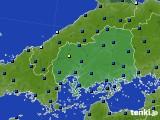 広島県のアメダス実況(日照時間)(2020年05月16日)