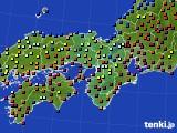近畿地方のアメダス実況(日照時間)(2020年05月17日)