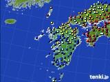 九州地方のアメダス実況(日照時間)(2020年05月17日)