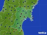 宮城県のアメダス実況(日照時間)(2020年05月17日)