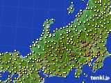 北陸地方のアメダス実況(気温)(2020年05月17日)